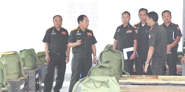 Deputy Director General of GSD inspects building cultural units and cultural combatants at Military School 303