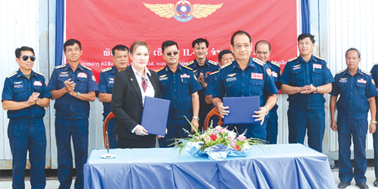 IL-103 aircrafts handed over to Lao Air Force